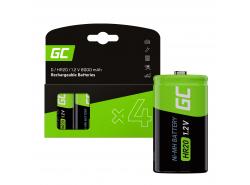 Baterie 4x D R20 HR20 Ni-MH 1,2V 8000mAh Green Cell