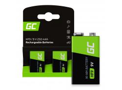 Batterie Akku 2x 9V HF9 Ni-MH 8000mAh Green Cell