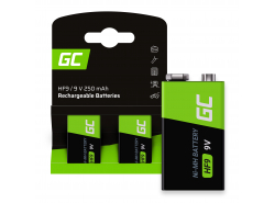Baterie 2x 9V HF9 Ni-MH 8000mAh Green Cell