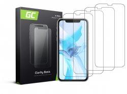 4x Ochranné sklo GC Clarity pro Apple iPhone 11 / iPhone XR