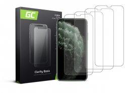 4x Ochranné sklo GC Clarity pro Apple iPhone X / XS / 11 Pro