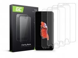 4x Schutzglas für Apple iPhone 6 Plus / 6S Plus / 7 Plus / 8 Plus GC Clarity Panzerglas Schutzfolien