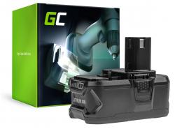 Green Cell® Batterie Akku (5Ah 18V) ONE+ RB18L50 RB18L25 für RYOBI R18AG0 R18JS0 R18PDBL RCD18022L RID1801M RMT1801M