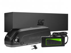 Green Cell® ULTRA E-Bike Akku 36V 17Ah Li-Ion Panasonic Zellen Down Tube Batterie mit Ladegerät
