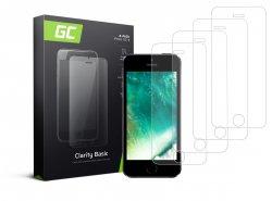 4x Schutzglas für Apple iPhone 5 / 5S / 5C / SE GC Clarity Panzerglas Schutzfolien