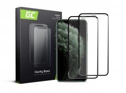 2x Schutzglas für Apple iPhone 11 Pro GC Clarity Panzerglas Schutzfolien Displayschutz 9H Härte