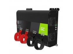 Green Cell Pro Wechselrichter Spannungswandler 12V auf 230V 2000W/4000W Reiner sinus