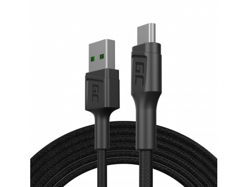 Green Cell GC PowerStream USB-A - Micro USB 200cm Kabel, Ultra Charge Schnellladefunktion, QC 3.0
