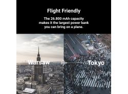 Power Bank GC PowerPlay Ultra 26800 mAh 128 W 4-Port mit der Möglichkeit, Ultrabook, Tablet und zwei Smartphones aufzuladen