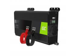 Green Cell Pro Wechselrichter Spannungswandler 12V auf 230V 500W/1000W Reiner sinus