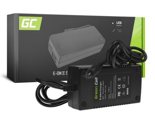 Green Cell ® Ladegerät für Elektrofahrräder, Stecker: 3 Pin, 42V, 2A