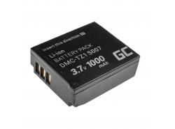 Baterie Green Cell ® CGA-S007E CGA-S007 pro Panasonic Lumix DMC TZ1 TZ2 TZ2GK TZ3 TZ3A TZ3K TZ4 TZ5 TZ11 3.7V 1000mAh