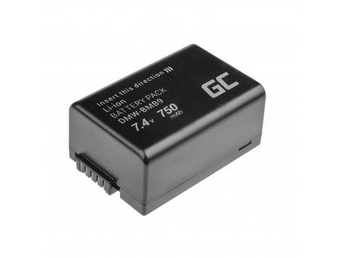 Green Cell® DMW-BMB9E Kamera-Akku für Panasonic Lumix DMC FZ60 FZ62 FZ82 FZ70 FZ72 FZ100 FZ150 Half-Decoded (Li-Ion 750mAh 7.4V)