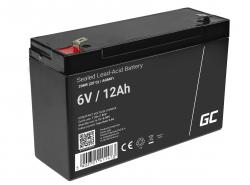 Green Cell® Gelová baterie AGM akumulátorová baterie 6V 12Ah VRLA bezúdržbová pro hračky a poplašné systémy