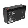 AGM GEL Batterie 6V 12Ah Blei Akku Green Cell Wartungsfreie für Alarmsysteme und Spielzeug