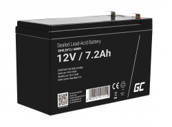 Green Cell® Gelová baterie AGM akumulátorová baterie 12V 7.2Ah VRLA bezúdržbová pro hračky a poplašné systémy