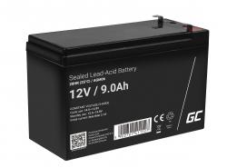 AGM GEL Batterie 12V 9Ah Blei Akku Green Cell Wartungsfreie für UPS und Echosonden