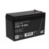 Green Cell® Gelová baterie AGM 12V 9Ah akumulátorová baterie bezúdržbová záložních zdrojích UPS