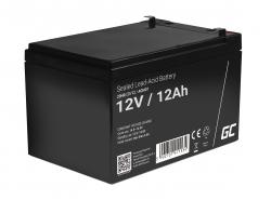 Green Cell® Gelová baterie AGM akumulátorová baterie 12V 12Ah VRLA bezúdržbová pro hračky a poplašné systémy
