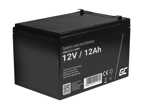 AGM GEL Batterie 12V 12Ah Blei Akku Green Cell Wartungsfreie für Traktor und Rasenmäher
