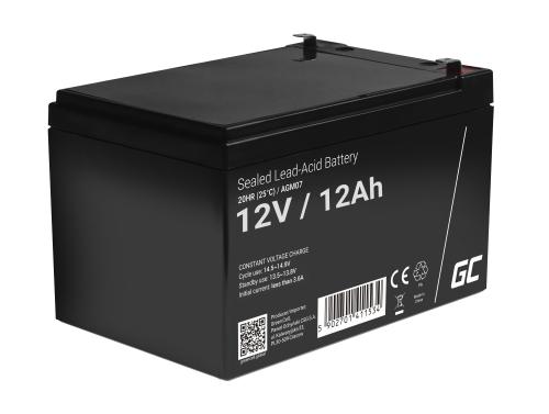 Green Cell® AGM 12V 12Ah Akku VRLA Blei-Batterie Spielzeug Elektro Spielzeug Alarm Kinderfahrzeuge