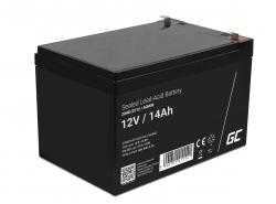 AGM GEL Batterie 12V 14Ah Blei Akku Green Cell Wartungsfreie für Scooter und Fahrrad