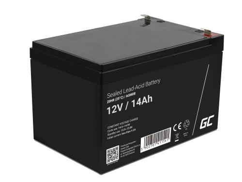 Green Cell® Gelová baterie AGM akumulátorová baterie 12V 14Ah VRLA bezúdržbová pro hračky a poplašné systémy