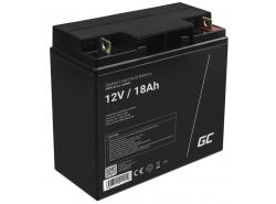 Green Cell® AGM 12V 18Ah Akku VRLA Blei-Batterie Unbemann Fischkutter Boot Scooter Rasentraktor Rasenmäher