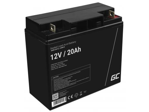 AGM GEL Batterie 12V 20Ah Blei Akku Green Cell Wartungsfreie für Motorboote und Elektrofahrzeuge