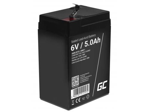 Green Cell® AGM 6V 5Ah Akku VRLA Blei-Batterie Spielzeug Elektro Spielzeug Alarm Kinderfahrzeuge