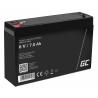 AGM GEL Batterie 6V 7Ah Blei Akku Green Cell Wartungsfreie für Alarm und Beleuchtung
