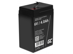 Green Cell ® Gel Batterie AGM VRLA 6V 4Ah