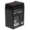 AGM GEL Batterie 6V 4Ah Blei Akku Green Cell Wartungsfreie für Traktor und Auto