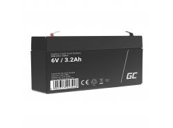 Green Cell ® Gel Batterie AGM VRLA 6V 3.3Ah