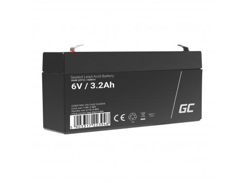AGM GEL Batterie 6V 3.2Ah Blei Akku Green Cell Wartungsfreie für Taschenlampe und Notbeleuchtung