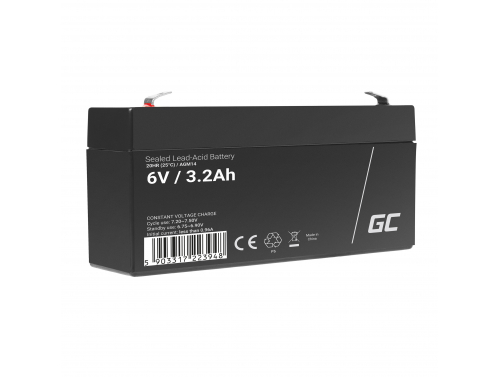 Green Cell® AGM 6V 3.3Ah Akku VRLA Blei-Batterie Spielzeug Elektro Spielzeug Alarm Kinderfahrzeuge