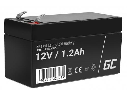 AGM GEL Batterie 12V 1.2Ah Blei Akku Green Cell Wartungsfreie für Elektroauto und einen Roller