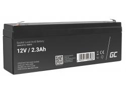 AGM GEL Batterie 12V 2.3Ah Blei Akku Green Cell Wartungsfreie für Schwerkraft und Alarm