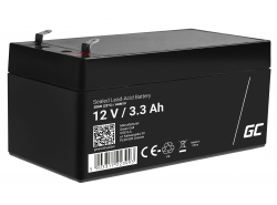 AGM GEL Batterie 12V 3.3Ah Blei Akku Green Cell Wartungsfreie für Kasse und Zähler