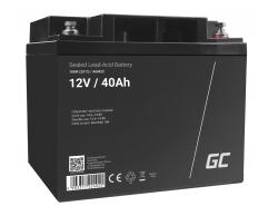 AGM GEL Batterie 12V 40Ah Blei Akku Green Cell Wartungsfreie für Fahrrad und Traktor