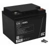 AGM GEL Batterie 12V 44Ah Blei Akku Green Cell Wartungsfreie für Photovoltaikanlagen und Rollstuhl