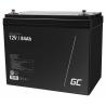 AGM GEL Batterie 12V 84Ah Blei Akku Green Cell Wartungsfreie für Boot und Beiboot