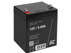 Green Cell ® Batterie AGM VRLA 12V 5Ah