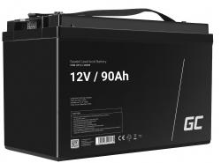 Green Cell® AGM 12V 90Ah Akku VRLA Blei-Batterie Unbemann Caravan Photovoltaik Rollstuhl Solarbatterie