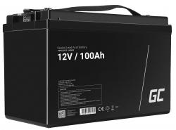 AGM GEL Batterie 12V 100Ah Blei Akku Green Cell Wartungsfreie für Photovoltaik und Boote