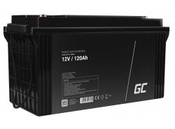 AGM GEL Batterie 12V 120Ah Blei Akku Green Cell Wartungsfreie für Motorroller und Fischerboote