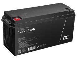 AGM GEL Batterie 12V 150Ah Blei Akku Green Cell Wartungsfreie für Elektromotor und Beiboot