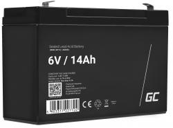 Green Cell Batterie AGM VRLA 6V 14Ah