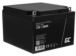 Green Cell® Akku Batterie AGM VRLA 12V 26Ah für Boote und photovoltaische Anlagen