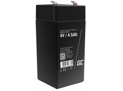 AGM GEL Batterie 4V 4.5Ah Blei Akku Green Cell Wartungsfreie für Stromversorgung von Spielzeug und Taschenlampen